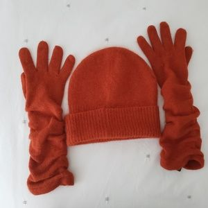 HM 🍂 Angora beanie and gloves set!